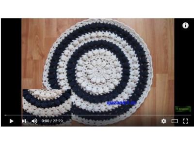 Мастер-класс по вязанию коврика с пышными столбиками