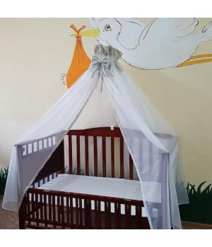 Балдахин детский на кроватку с узором