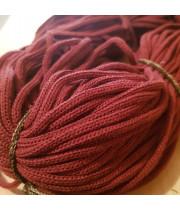 Шнур для вязания хлопковый Бордовый