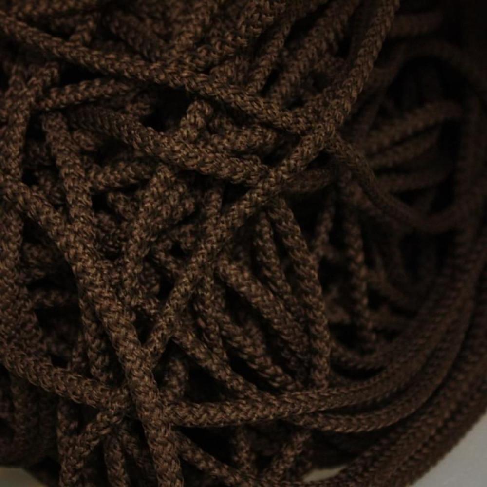 шнур полиэфирный с сердечником темно коричневый
