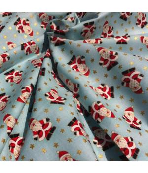 Ткань хлопок Дед Морозики