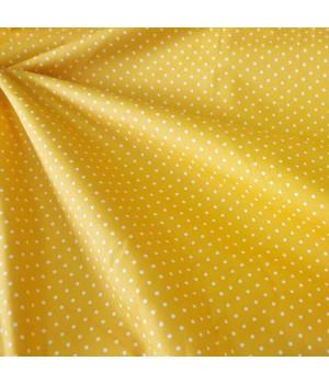Ткань хлопок Горошек на желтом фоне