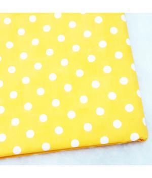 Ткань хлопок Горошек на желтом
