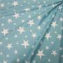Ткань хлопок Звезды на цвете тиффани