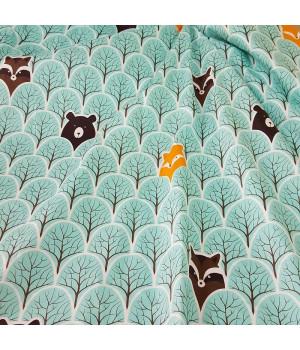 Ткань хлопок Лесные звери