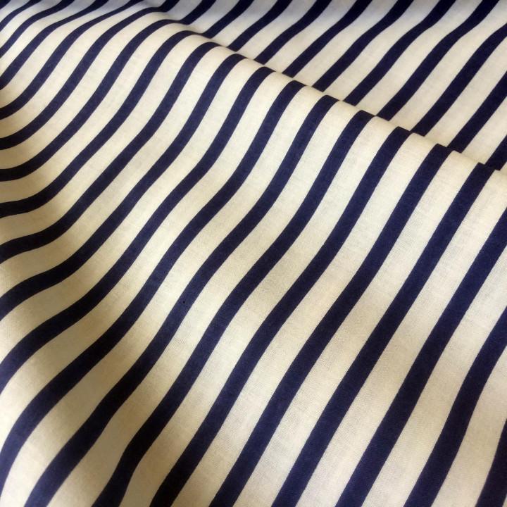 Ткань хлопок Полоска морская