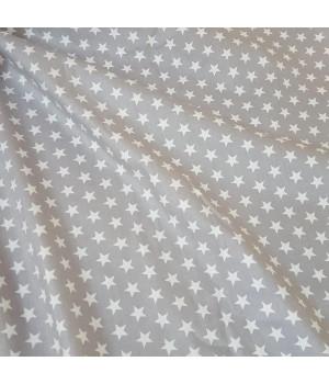 Ткань хлопок Звезды белые мелкие