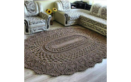 Образец вязаного ковра Источник: Интернет
