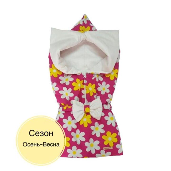 Весенний/осенний конверт для девочки Цветочный малиновый