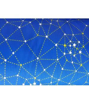 Ткань хлопок Звездное небо с созвездиями