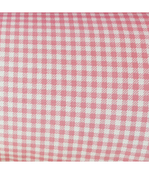 Ткань хлопок Клетка мелкая розовая