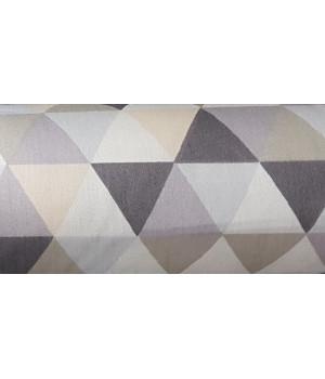 Ткань хлопок Серо-коричневые треугольники