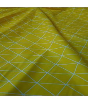 Ткань хлопок Желтая геометрия